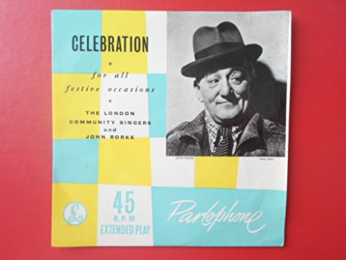 Rorke, John Celebration EP Parlophone GEP 8590 EX/EX 1960spicture sleeve, with London Community Singers