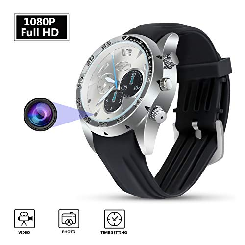 Spy Camera HD 1080p Portable Surveillance Cam with Night Vision, Spy...