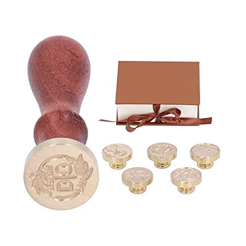 Sello de cera, estilo retro, manualidades de bricolaje, cobre + madera, sello de artesanía para invitaciones, sobres