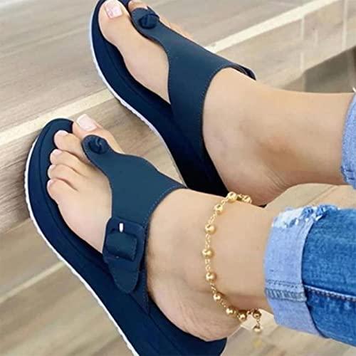 DZQQ 2021 Nuevas Sandalias para Mujer, Zapatos con Punta de Clip para...