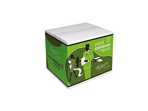 Fabrisa 1241032 - Caja de 1000 hojas de papel continuo, 3 hojas, 240 x 11
