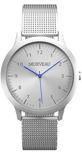 Morveau Casual Jetsetter Minimalist Men Watches Reclaimed Airplane Aluminum - Stainless Steel Mesh Band