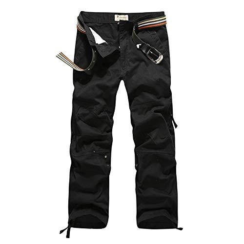 Pantalones Cargo de Pierna Recta para Hombre, Pantalones de Caza Salvaje con Costura de Retazos, Pantalones de Caza Salvaje Resistentes al Desgaste y duraderos 30