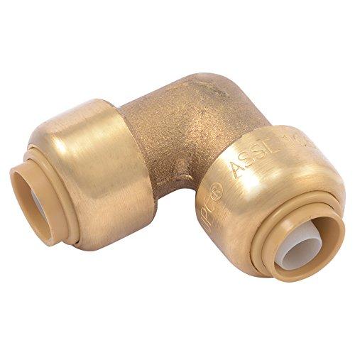 SharkBite U246LFA Brass Push Elbows, 3/8 inch (1/2 inch OD) x 3/8 inch (1/2 inch OD)