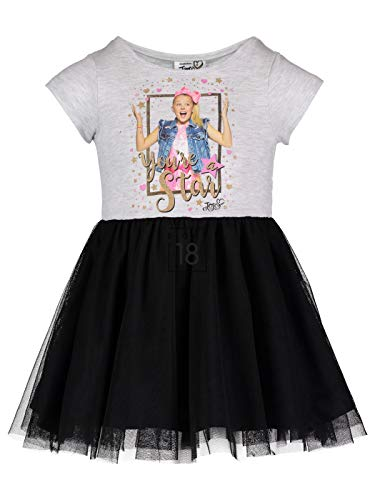 JoJo Siwa (994829WAS Girls Logo Bow Stripe Dress in Blue Stripe, 5