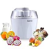 Máquina para hacer helados, máquina para hacer helados de 1,5 l sin BPA Máquina para hacer helados Sorbete de yogur helado con paleta mezcladora y temporizador de apagado automático