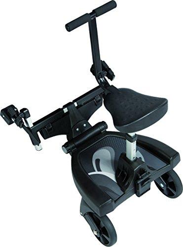 Fillikid Buggy-Board 180° mit 3fach verstellbaren Sitz | Filliboard Mitfahrbrett | Mitfahrbrett universal für Kinderwägen & Buggies & Sportwagen, Größe:SET mit Zusatzsitz
