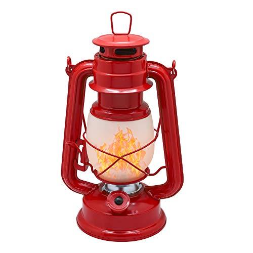 YAKii Lámpara de aceite de metal con efecto llama, 20 LED, estilo...