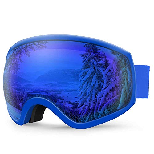 AKASO Ski Goggles, Over Glasses Snowboard Goggles - Anti-Fog, 100% UV Protection, Double-Layer Spherical Lenses, Helmet Compatible Snow Goggles for Men, Women (Explore Oregon Special Edition)