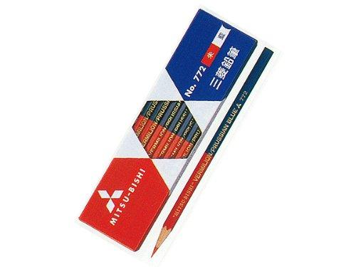 【ひらがな/カタカナ名入れ】三菱鉛筆 朱藍鉛筆(赤青鉛筆) 六角 772 (K772)