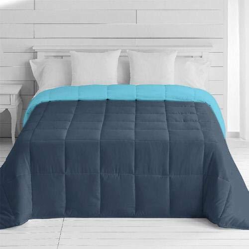 Energy Colors Textil - Hogar - Moscow - Edredón/Relleno Nórdico Reversible Máxima Calidad Transpirable 350 gr/m2 Microfibra Alta Densidad Invierno/Otoño (Azul Line, Cama 90 y 105 (180_x_260_cm))