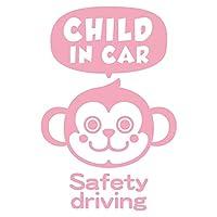 imoninn CHILD in car ステッカー 【パッケージ版】 No.68 サルさん (ピンク色)