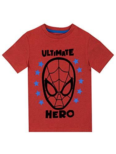 Marvel Camiseta de Manga Corta para niños Spiderman Rojo 3-4 Año
