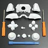 C-FUNN Parachoques Botones De Reemplazo Conjunto Completo D-Pad LB RB Lt RT Botones T8H T6 Herramientas para Xbox One Elite Juego Controller - Blanco
