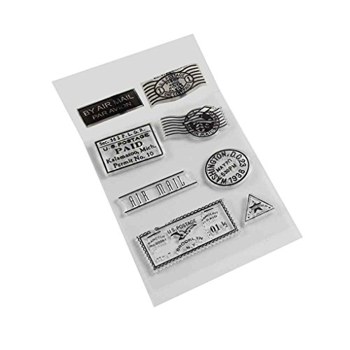 Gankmachine Silicona PVC matasellos Transparente para la Tarjeta de Scrapbooking DIY Accesorios para Sellos