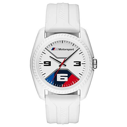 BMW BMW1004 M Motorsport Uhr Herrenuhr Kautschuk Kunststoff 3 bar Analog weiß