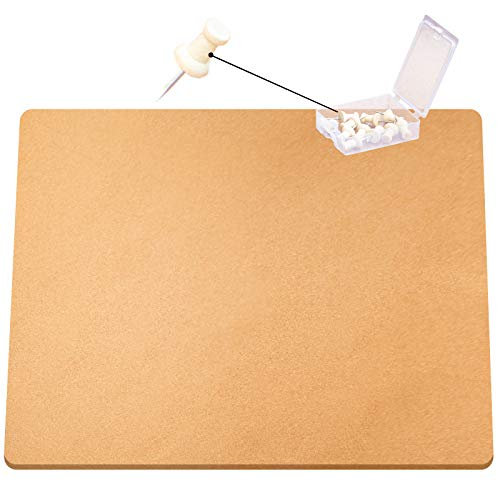 VEVOR Cork Roll, 4 ft. x 5 ft. Cork Underlayment, 3/8 in. Thick Cork Board Roll, Wood-Colored Roll of Cork, Rolled Cork Board w/ 20 Wooden Push Pins for Bulletin Message Board & Panel Acoustic Sheet