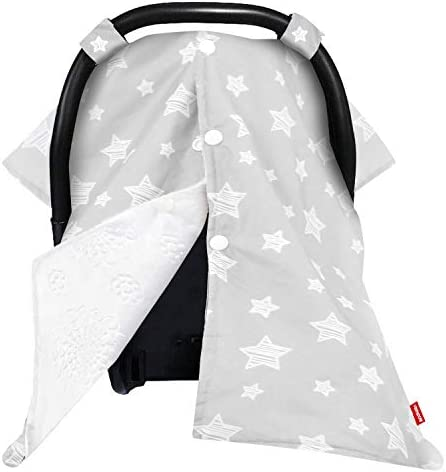 Baby Carseat Canopy Nursing Cover Car Seat Canopy for Girls or Boys Cute Star Pattern Infant product image