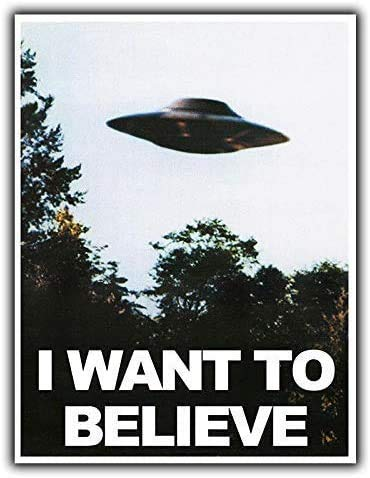 I Want To Believe In Ufo Aliens Retro Deko Blechschild Es 20x30cm