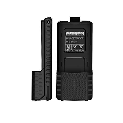 Not application Walkie Talkie Resistente, batería de Litio Resistente al Agua, batería de Capacidad Real extendida para Baofeng UV-5R