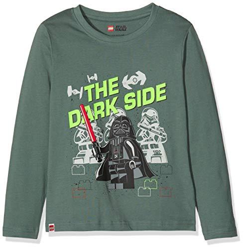 LEGO Cm Star Wars Camisa Manga Larga, Verde (Dark Green 880), 104 para Niños