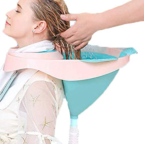 WXMYOZR Haar-Waschbecken Leicht Bett Shampoo Medical Stable Handliches Haar Waschbecken Tray Shampoo Basin Verwendung Im Bett Waschbecken Für Behinderte Schwangere Ältere