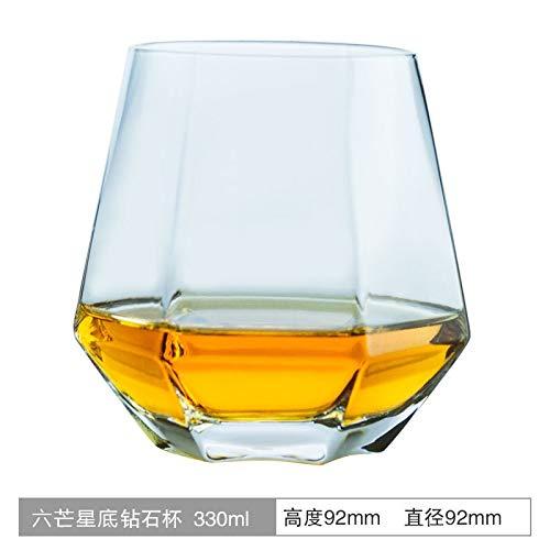 SUNXK Diamond Cup niche glas bodem tip glas whisky cocktail glas tumbler creatieve bar buitenlandse wijn glas
