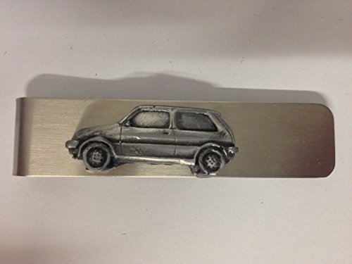 Stainless steel money clip with a MG Metro 3D pewter effect emblem ref134