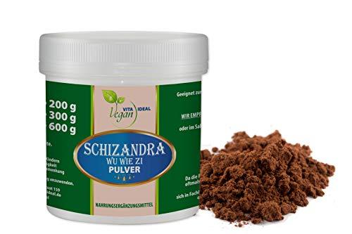 VITAIDEAL VEGAN® Schizandra Pulver (WU WIE ZI, Schisandra) 150g. rein natürlich ohne Zusatzstoffe. Inklusive Messlöffel
