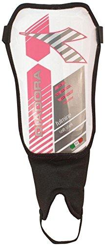 Diadora Unisex Fulmine Soft Shell Schienbeinschoner, Unisex-Erwachsene, FBA_YAL-829, weiß/rosa, X-Small