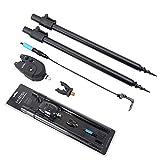Kit de pêche à la carpe avec détecteur de touche et balancier, piquets de pêche et tête en caoutchouc pour canne à pêche