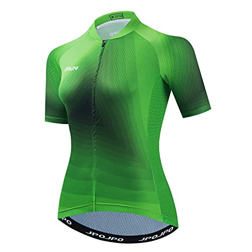 Weimostar Radtrikot Frauen Damen Bike Top Reißverschluss Fahrradhemd Kurzarm Rennradbekleidung Racing MTB Mountain Cloting Sommer XXXL