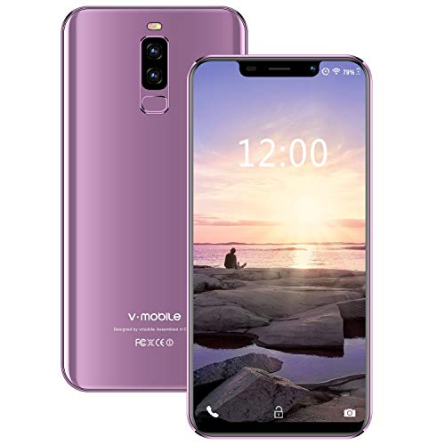 Smartphone Offerta Del Giorno 4G, 3GB RAM 16GB ROM/128GB Android 9.0 5.85 Pollici HD 13MP+5MP Fotocamera 4300mAh Batteria Dual SIM Cellulari Offerte Fingerprint Face ID (porpora)