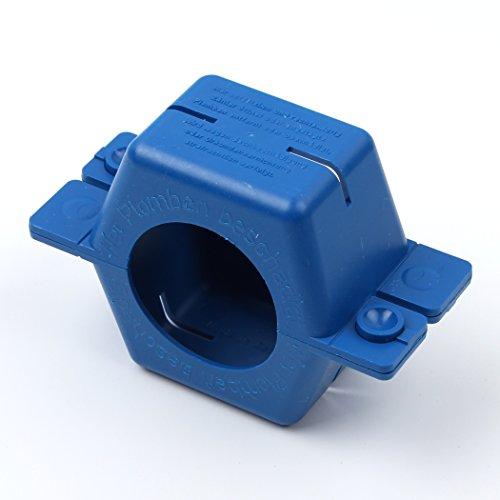 5 Stück: Plombierschelle / Plombe, Form B, zwei Halbschalen aus Kunststoff, blau, rund, für QN 2,5 - 3/4-Zoll Verschraubung, z.B. für Wasseruhren