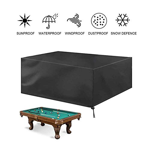 NINGWXQ Waterdichte Tuinmeubelen Covers Outdoor Sofa pooltafel beschermingszeil, winddicht, Tear-bestendig, Zwart, Meerdere Maten (Color : Black, Size : 230×165×70cm)