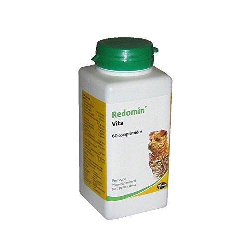 Zoetis Redomin Vita Envase con 60 comprimidos de Suplemento Vitamínico para Perros y Gatos