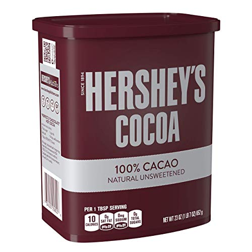HERSHEY'S Natural Unsweetened 100% Hot Cocoa, Baking, 23 Ounce Can - PACK OF 2