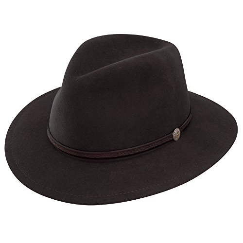 Stetson and Dobbs TWCMWL-8824 Men's Cromwell Cowboy Hat, Black - 7 1/4