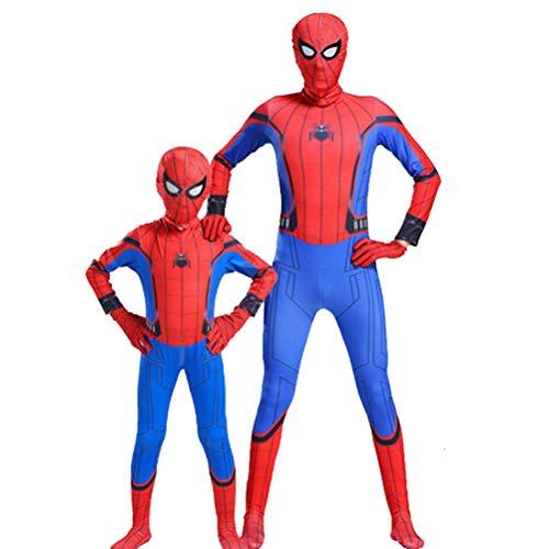 GYMAN Niño Adulto Estupendo Héroe Spiderman Traje del Vestido, Carnaval De Halloween Cosplay Body, para La Película del...