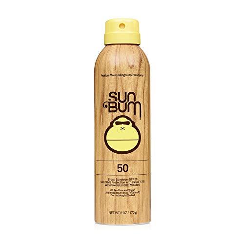Sun Bum Original SPF 50 Sunscreen Spray Vegan and Reef Friendly (Octinoxate & Oxybenzone Free) Broad Spectrum Moisturizing UVA/UVB Sunscreen with Vitamin E 6 oz