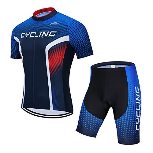 Maillot de ciclismo para hombre, manga corta, reflectante, secado rápido + pantalones...