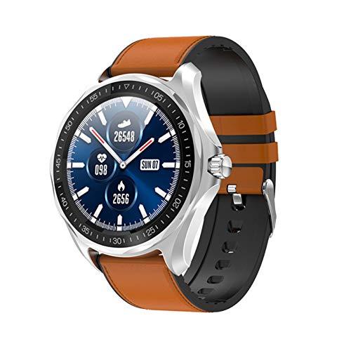 AKY S09 IP68 Reloj Inteligente Impermeable, Ritmo cardíaco Monitoreo de la presión Arterial GPS Hombre SmartWatch Ejercicio Fitness Tracker Clock para Android/iOS,C
