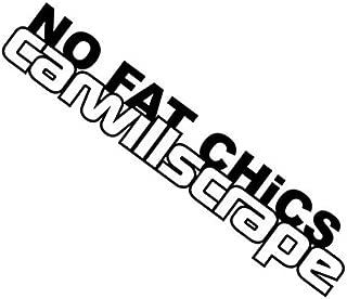 (2) No Fat Chicks Car Will Scrape JDM Vinyl Decal Window Stickers Static BLACK
