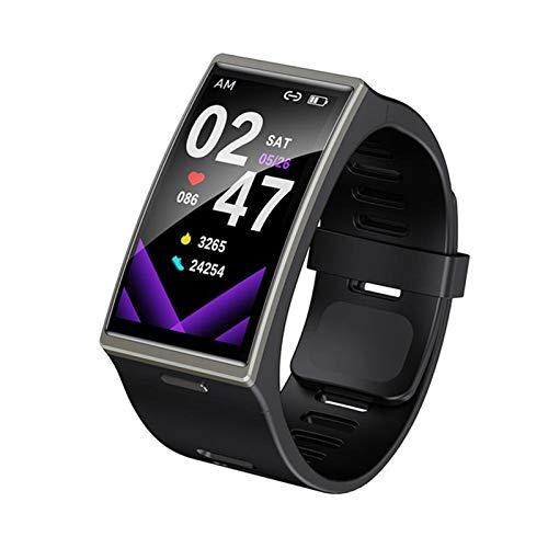 Smart Watch Uomo da 1,9 Pollice 170 * 320 Schermo Lemfo DM12 IP68 Monitor della frequenza cardiaca dell aspetto Impermeabile,A
