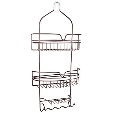 Honey-Can-Do BTH-03299 Hanging Shower Caddy Organizer, Bronze
