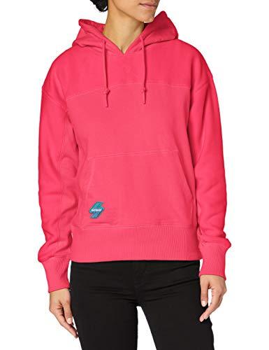 Superdry Womens Sportstyle NRG Polar Hood Hooded Sweatshirt, Hot Pink, 10