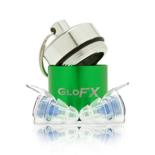 GloFX Ear Plugs - Comfortable Hearing Protection for Music Events Concerts and Festivals - Musician Noise Cancelling Reusable Earplugs High Fidelity