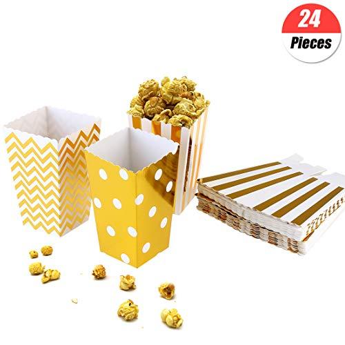 YuChiSX Cajas de Palomitas,24 Piezas Contenedores Papel Popcorn Bolsas Bolsa de Palomitas Popcorn Boxes Cajas de Palomitas de maíz envases