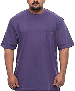 Harbor Bay Big and Tall Twist Resistant Short Sleeve T-shirt for Men - Purple