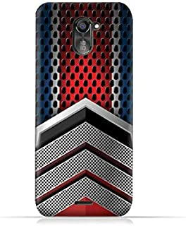 infinix Hot 4 Pro X556 TPU Silicone Protective Case with Geometric Mesh Pattern Design